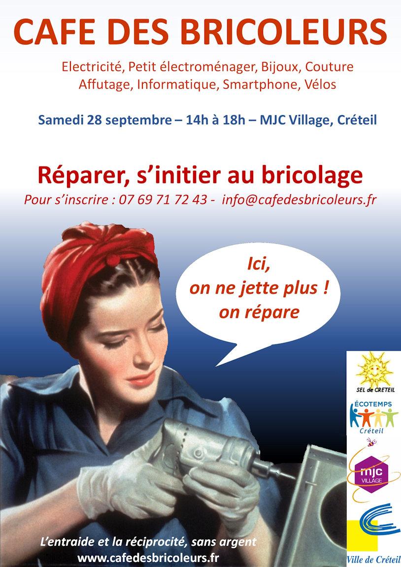 Café des bricoleurs à la MJC Village de Créteil